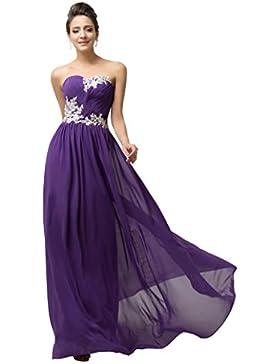 GRACE KARIN® Damen Abendkleider Lange Herzform Chiffon Prom Dress in Mehreren Farben
