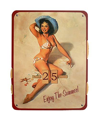 Trendfinding Kalender Pin Up Girl Enjoy The Summer Pappkalender Nostalgic-Art (Vintage Pin-up-kalender)