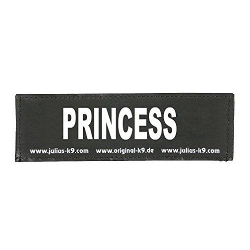 Julius-K9 Klettaufschrift, schwarz, klein, PRINCESS