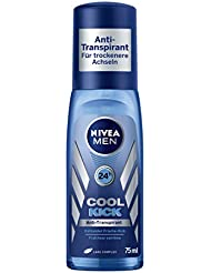 Nivea Men Cool Kick Deodorant, Anti-Transpirant-Schutz, 6er Pack (6 x 75 ml)
