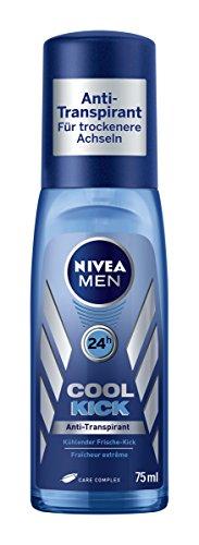 Nivea Men Cool Kick Deodorant, Anti-Transpirant-Schutz, 6er Pack (6 x 75 ml) (Pumpspray Deodorant)