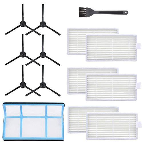EisEyen Seitenbürstenwischer Ersatzteile für das Seitenbürstenfilter-Kit, kompatibel mit dem Saugroboter,V3 V3S V5 V5s