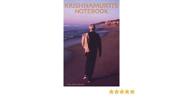 KRISHNAMURTI S NOTEBOOK PDF DOWNLOAD