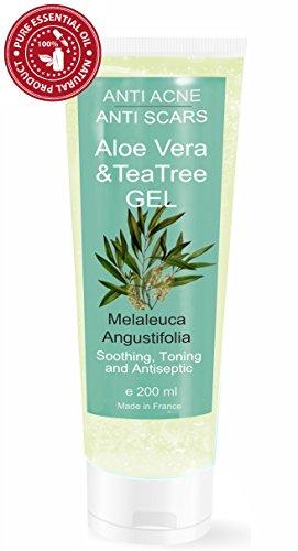Feuchtigkeitsspendende Gel Teebaumöl und Aloe Vera Anti-Akne 200 ml Unisex