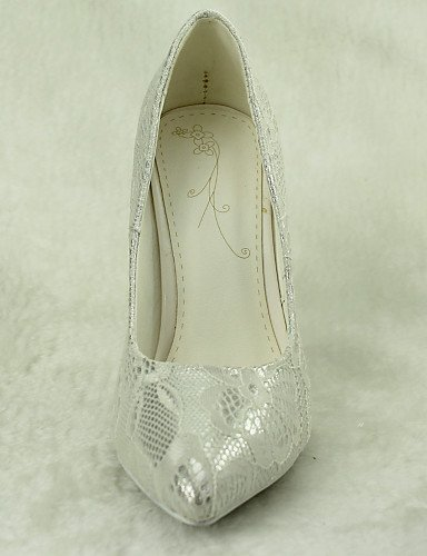 Shangyi High Festivität Schuh Hochzeitsschuhe Silber Party amp; 4in Kleid Damen Heels Absätze Spitzschuh Hochzeit 6qXr6aw