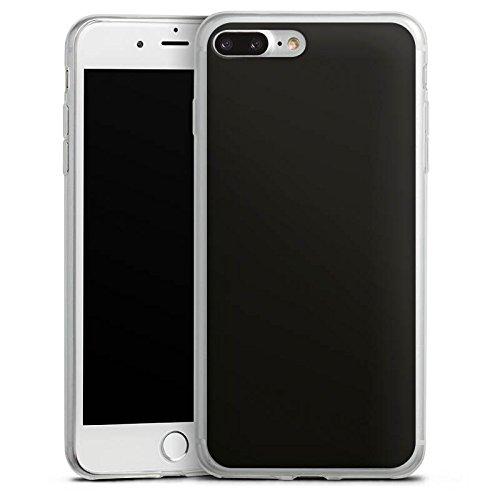 Apple iPhone 8 Slim Case Silikon Hülle Schutzhülle Schwarz Black Dunkel Silikon Slim Case transparent
