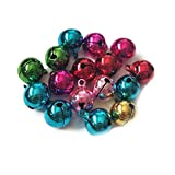 Trifycore 50 Stück Mini Bunte Weihnachtsglocken kleine Metallglocken für Haustier Hundehalsband 8mm, Baby- und Kinderbetreuung