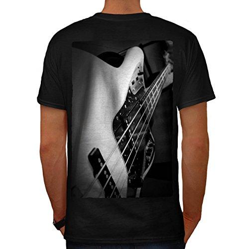 Bass Gitarre Jazz Musik Instrument Herren L T-shirt Zurück   Wellcoda
