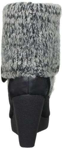 Calvin Klein Jeans Simone White Washed Suede/Wool, Bottes femme Noir (Blk)