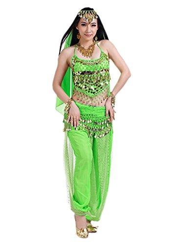 Kostüm Damen Halloween Elfen Faschings Kostüm Komplet Grün (Adult Kleine Mädchen-kleid)