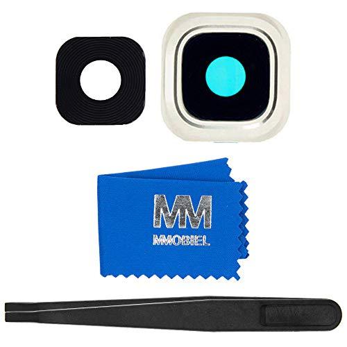 MMOBIEL Linse Hauptkamera Kamera Rahmen Cover mit Pinzette und Tuch kompatibel mit Samsung Galaxy Note 5 N920 (Weiss) (Galaxy Fünf Note)