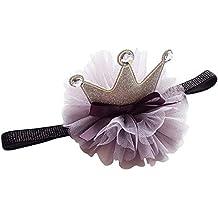 COUXILY Cappellino Compleanno Fascia Tiara Neonata con Fiori per  Decorazione della Festa Compleanno 25c8de2d1228