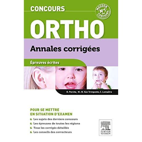 Concours Ortho Annales corrigées: Epreuves écrites