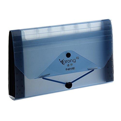 Datei-erweiterung Ordner (Papiersack - Yarong F4018E Erweiterung 13 Pocket Datei Coupon Akkordeon Organizer Ordner Hellblau)