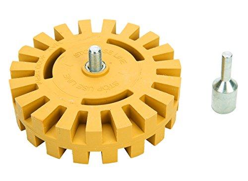 FreeTec Wheel Folienradierer-Kit mit Gummi-Aufsatz zum Entfernen von Auto-Aufklebern