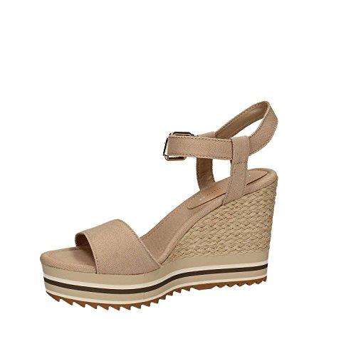 Tommy Hilfiger Fw0fw00696 Sandale Compensée Femme Beige