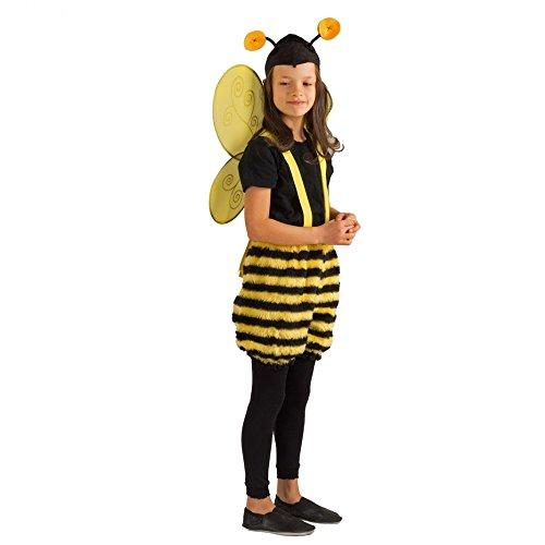 Krause & Sohn Kinderkostüm Honigbiene Summi Hose Mütze Fasching Biene Tierkostüm Garten (116/128) (Honigbiene Kostüm)