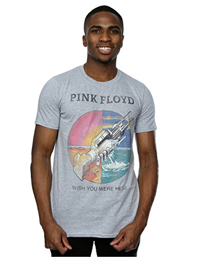 Pink Floyd Herren Wish You Were Here T-Shirt Medium Heather Grey (Pink Floyd-tags)
