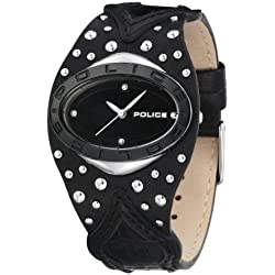 Police Vamp 11600MST/02 Black Leather Watch