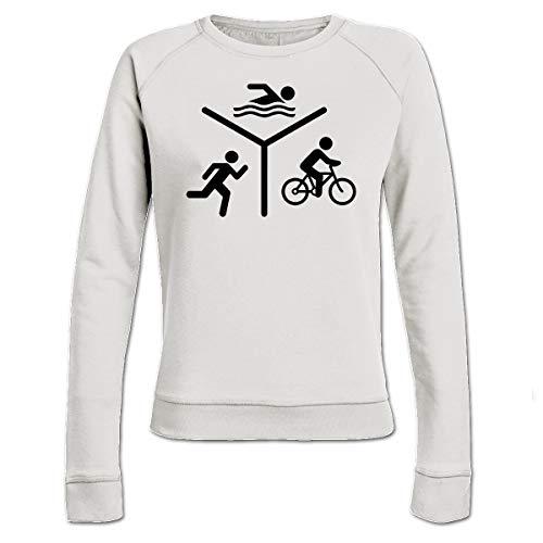 Shirtcity Triathlon Silhouette Logo Frauen Sweatshirt by