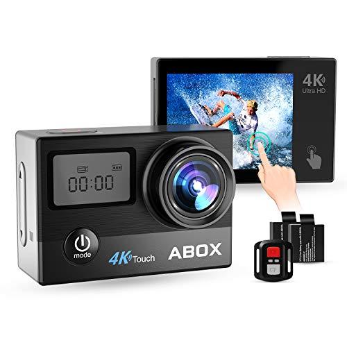 eras, Helmkameras, Ultra HD 4K, Wasserdicht, Anti-Shake, mit Helmbasis/Unterwasser-Gehäuse/WiFi-Fernbedienung / 170 Grad Fischaugen-Objektiv / 2 Batterien ()
