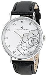 Christian Van Sant Womens CV2210 Fluer Analog Display Quartz Black Watch