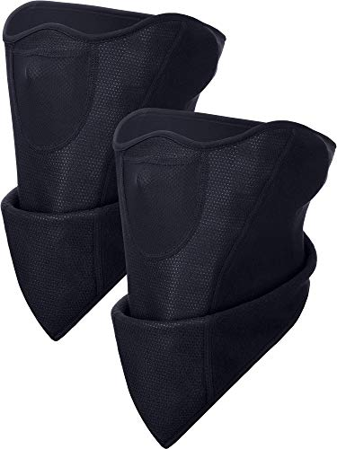 Boao 2 Packs Máscara Esquí Antiviento Negra Máscara
