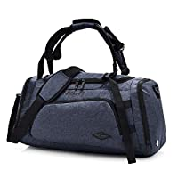 ElifeAcc Multifactional Fitness Handbag Travel Shoulder Bag Gym Sports Carry Storage Luggage with Shoes Compartment for Men and Woman (Dark Gray)