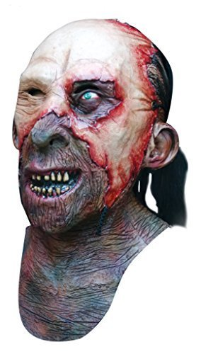 Skinner Zombie Head and Chest Latex Mask Horror Halloween by Ghoulish Productions (Skinner Maske)