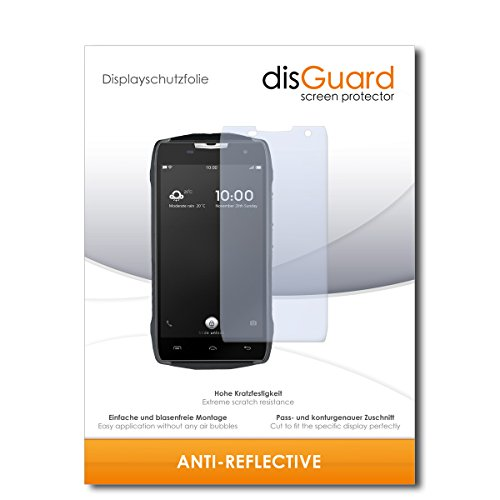 disGuard® Bildschirmschutzfolie [Anti-Reflex] kompatibel mit Doogee T5 [3 Stück] Entspiegelnd, Matt, Antireflektierend, Extrem Kratzfest, Anti-Fingerabdruck - Panzerglas Folie, Schutzfolie