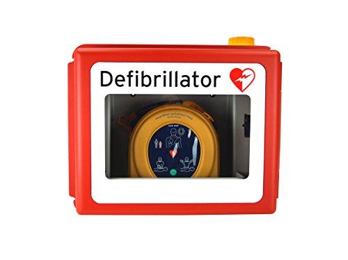 MedX5 Defibrillator Wandkasten für alle AED Herstellermarken, mit akustisch und optischen Alarmen, für Innen und Aussenbereiche, Made in Germany! 5 Jahre Garantie …
