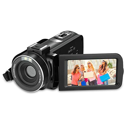 Camera de Video, RegeMoudal Videocamara Digitales Full HD 1080P 24.0MP 16X de Zoom 3 Pulgadas Videocamara 270 Grados Rotativa Pantalla