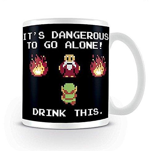 The Legend of Zelda Tasse Drink This. - weiß, Bedruckt, aus Keramik.