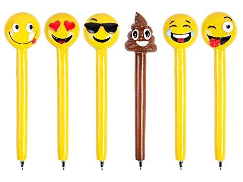 stylo-en-polyresine-alsino-pointe-en-metal-a-encre-gel-noir-tete-de-stylo-en-forme-de-smiley-emoji-e