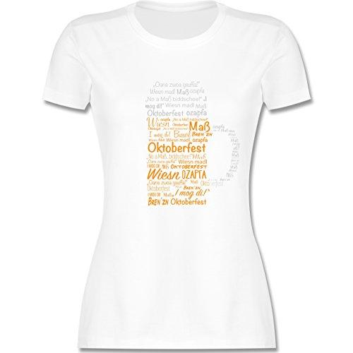 Shirtracer Oktoberfest Damen - Oktoberfest Maß - Damen T-Shirt Rundhals Weiß
