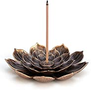 Brass Lotus Censer Stick Incense Holder Cone Incense Burner Ash Catcher Home Fragrance Accessories