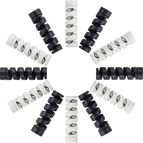 12 Stück Typ C Ladegerät Kabelschoner, Flexibler Silikon Micro USB Schutz, Maus Kabelschutz, Anzug für alle Handys (12 Stück, Schwarz, Grau) Silikon-schutz