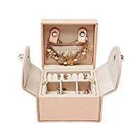 MKYYLV Jewelry Box Organizer - Stud Closing & 2-Tier Storage Case for Earrings Rings Necklaces - Best Gifts for Girls Women