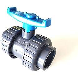 Vanne Interplast 40mm à coller double union démontable 4cm / 40 mm PN16 PVC PRESSION