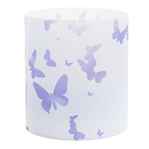 Tischkarte Windlicht Schmetterling Flieder Lila mit Druck: Platzkärtchen, Tischkärtchen, Tischdeko für Hochzeit, Geburtstag, Taufe, Kommunion