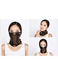 Sucastle Moda paseos al aire libre máscara de usos múltiples bufanda mágica bufanda protección para la cara tapas de protección de la cara el viento cálido UV