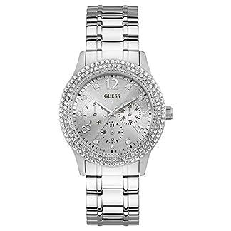 Guess Reloj Analógico para Mujer de Cuarzo con Correa en Acero Inoxidable W1097L1