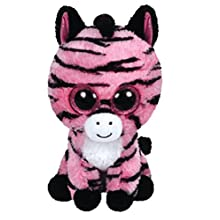 TY Beanie Boo Plush - Zoey the Zebra 15cm (Color may vary)