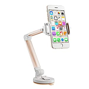 Nnopbeclik Handyhalter Autohalterung verstellbar 360°drehbarer drehbarer Adapter auf 3.0 Zoll-6.5 Zoll Desktop Tischwagenhalterung stabile Wiege mit Saugnapf für iPhone X/iPhone 8 Plus/iPhone 7,Samsung Galaxy Note 8,Smartphone