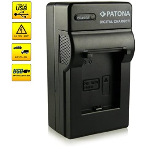 ¡Novedad! – El primero cargador de batería con conexión micro USB · adecuado para la batería AHDBT-201 | AHDBT-301 para GoPro HD HERO 3 | HERO3 Black Edition | HERO3 Black Edition-Surf | HERO3 Silver Edition | HERO3 White Edition y mucho más…