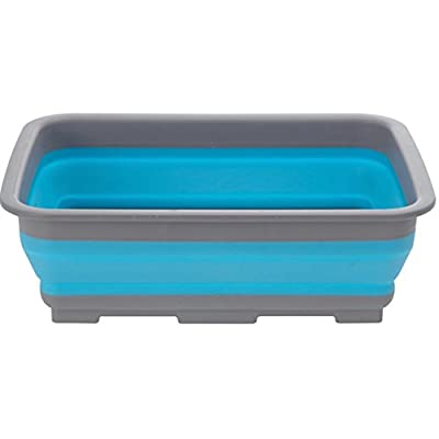 Spülschüssel Tischschüssel Campingschüssel klappbar faltbar Faltbox blau