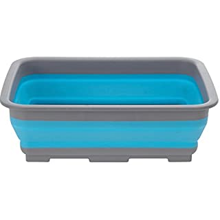 AiO-S - OK Spülschüssel Tischschüssel Campingschüssel klappbar Faltbar Faltbox Blau