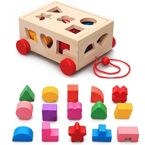 Lia Nachzieh Holzspielzeug, Kubus, Motorik Spielzeug, bunt, Holz Spielzeug 2+ Geschenk Kinder Kleinkinder