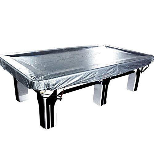 YANZHEN Gartenmöbel Abdeckung Abdeckplane Ping-Pong-Tisch Waschbar Außenstaubdichtes Blocking Regen Und Schnee Verschleißfeste PVC, Größe 5 (Farbe : Silber, größe : 390x210cm)