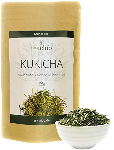 KUKICHA Grüner Tee Japan Lose 100g, Japanischer Grüntee Süßlich mit Umami, Gyokuro Kukicha aus Kyushu, TeaClub Green Tea
